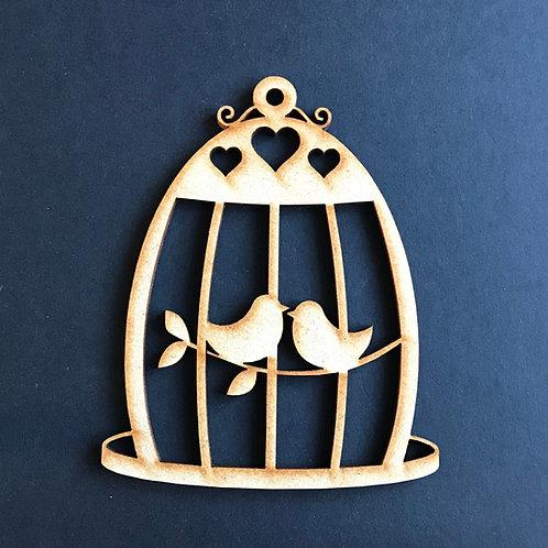 MDF Wooden Love Birds Round Birdcage 5 Pack