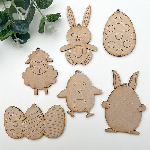 Clearance Easter Decorations 6 Pack