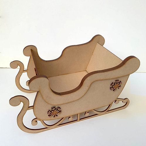 MDF Layered Sleigh Only - 2 Sizes