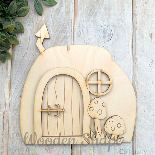 3D WOODEN FAIRY DOOR CODE MINI SCENE