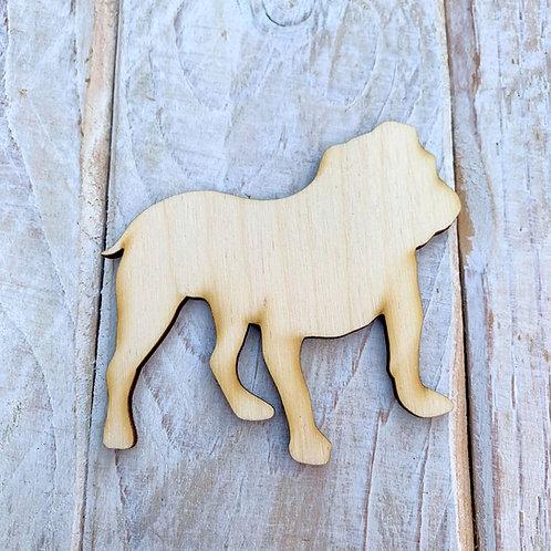 Plywood English Bulldog Dog Shape 10 PACK