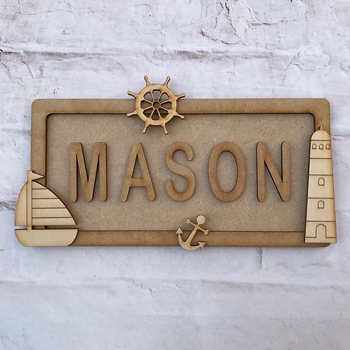 Sailor Theme Room Sign Small (up to 6 letters)