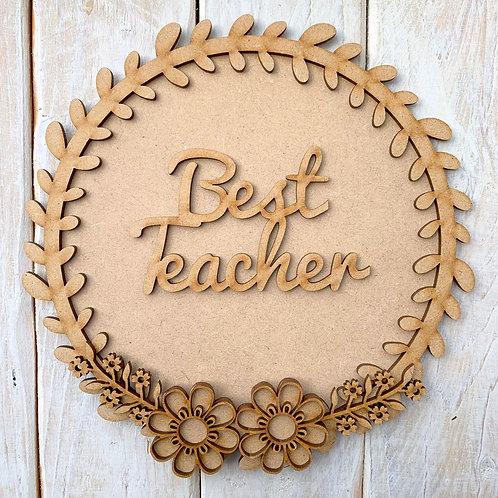 Laurel 1 Layered Hoop Kit Backboard Best Teacher