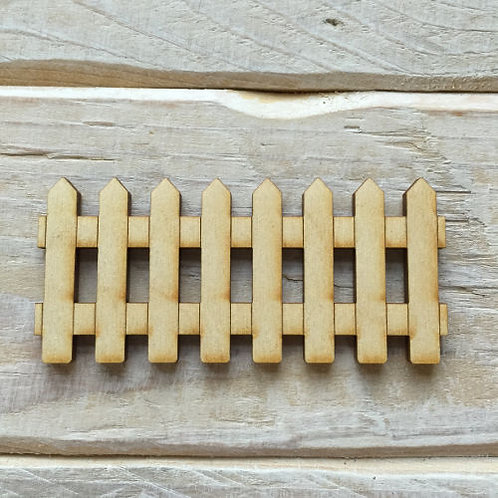 6 Pack Wooden Fairy Picket Fence Code Fence Small