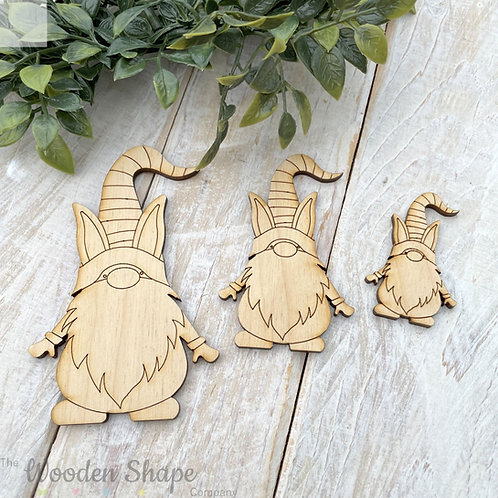 Plywood Shapes Easter Gnome Boy 10 Pack