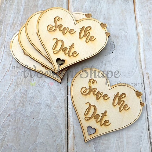 5 Pack Engraved Card Sentiment Save the Date