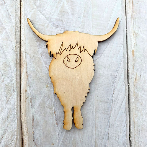 Plywood Highland Cow Front 10 Pack