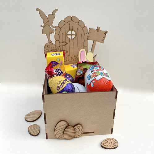 MDF Easter Fillable Treat Box Fairy