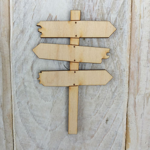 6 Pack Wooden Fairy Sign Posts Code R3