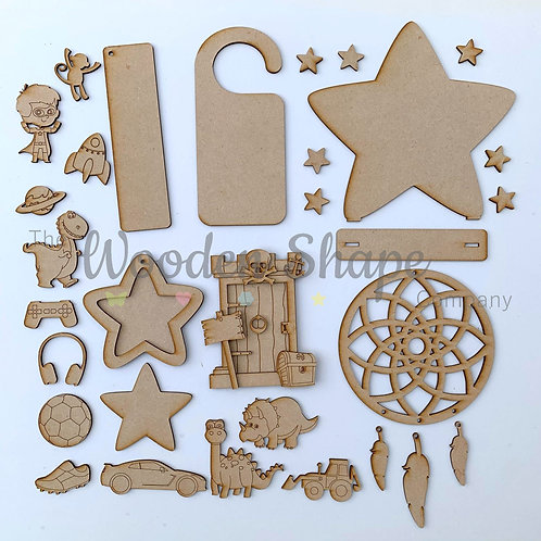 MDF Laser Cut Craft Kit DIY Kids Craft Pack Boys