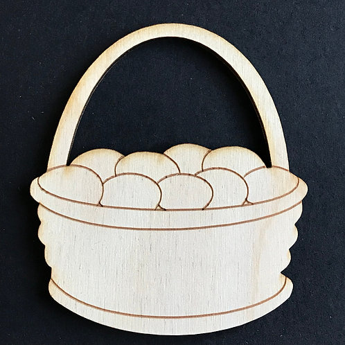 Plywood 10 Pack Shape Easter Basket with Eggs