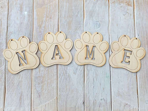 Bunting Paw Letters Cut Out