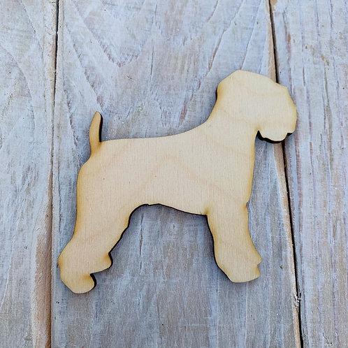 Plywood Soft Wheaten Terrier Dog Shape 10 PACK