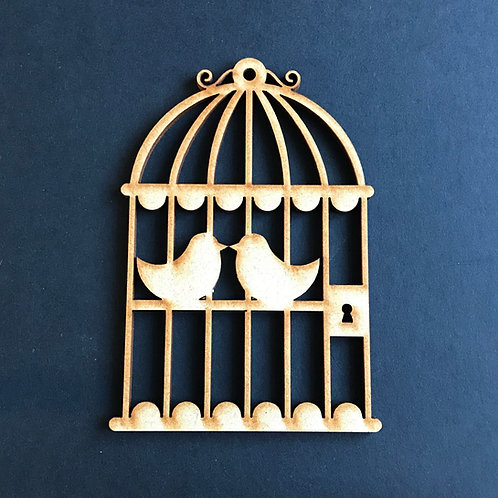 MDF Wooden Love Birds Scallop Birdcage 5 Pack