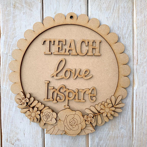 Layered Round Scallop Edge Frame Kit 20cm Teach Love Inspire