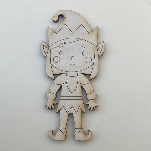 Plywood Elf Girl Craft Shape 10 PACK