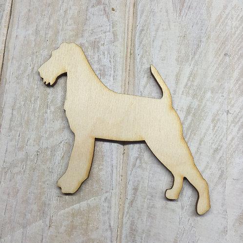 Plywood Irish Terrier Dog Shape 10 PACK