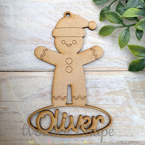 MDF Personalised Bauble Gingerbread Boy