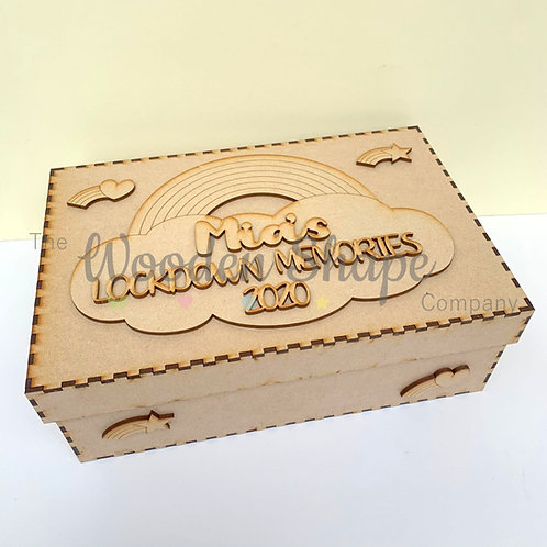 MDF Build Your Own Lockdown Memories S2 Memory Box with Name