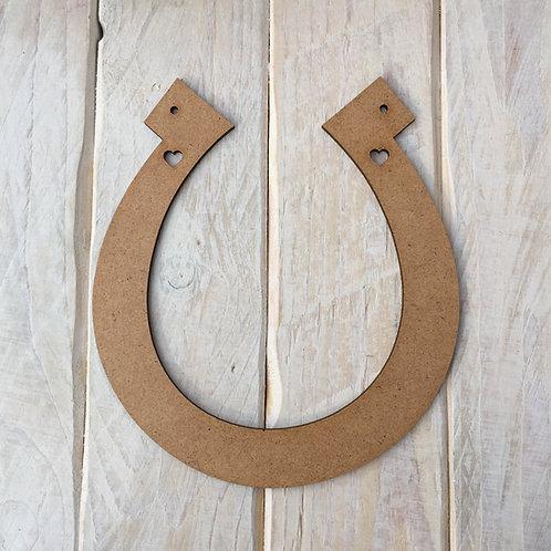 MDF Wedding Horseshoe Shape Plaque Blank