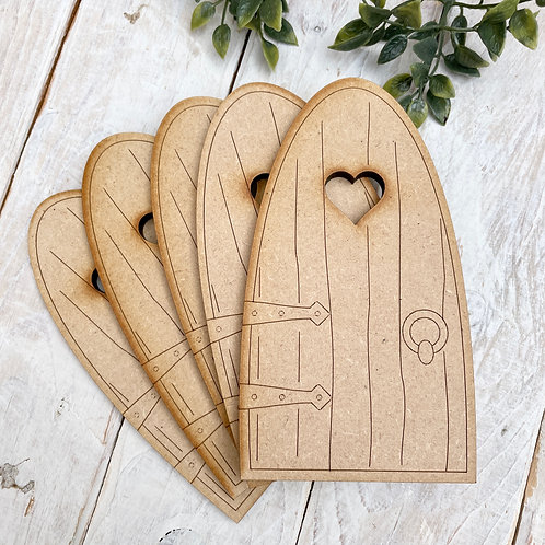 6MM Clearance 5 Pack MDF Fairy Door 6MM