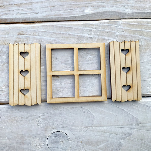 Fairy Door Window Square Shutter 3 Sets 9 Pieces