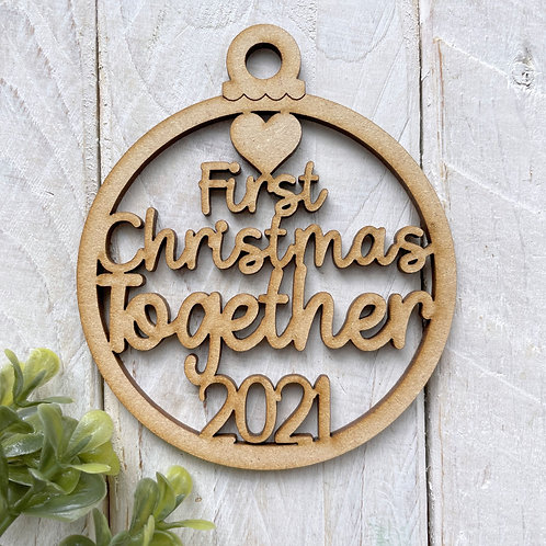 MDF Bauble First Christmas Together 2021