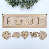 MDF Interchangeable Home Sign Welcome to