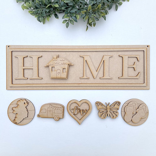 Interchangeable Home Porch Sign