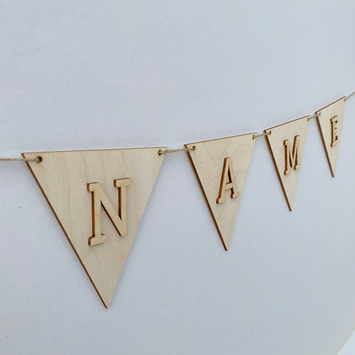 Bunting Flag with Letters