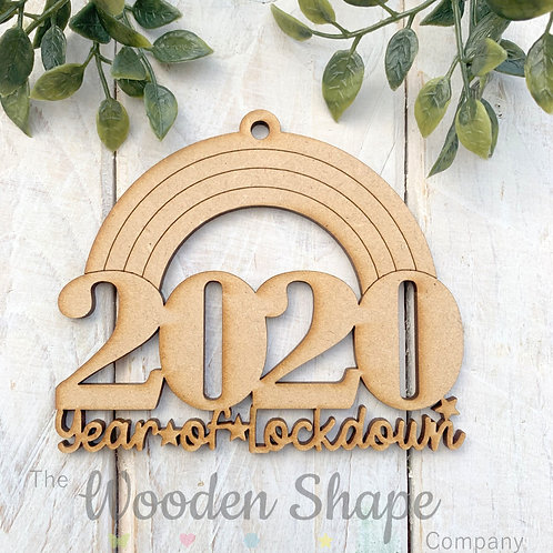 MDF Christmas Decoration Bauble Lockdown 2020 RBLD20