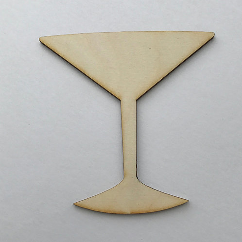 Plywood Martini Glass 10 PACK