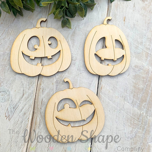 Plywood Assorted Pumpkins Shapes 10 Pack
