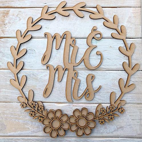 Laurel 2 Hoop Kit Mr &Mrs, Mr & Mr, Mrs & Mrs, Mr, Mrs
