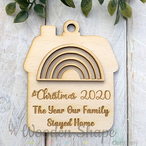 Plywood Christmas Decoration Bauble Lockdown 2020 HSSHC20