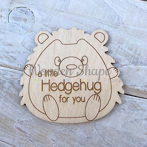 Plywood Engraved Hedgehog Hug Little Pocket Hug 5 Pack