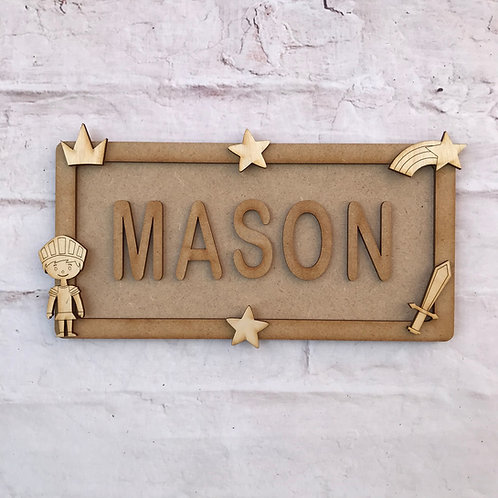 Prince Theme Room Sign Small (up to 6 letters)