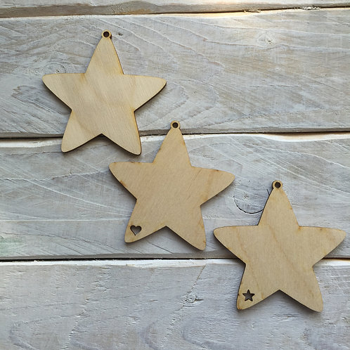 10 Pack Christmas Decorations Star