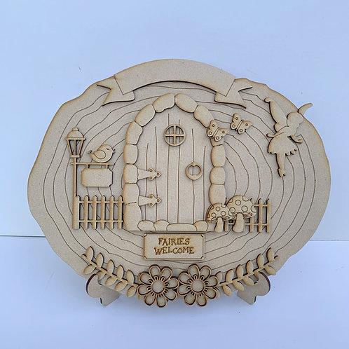 The Fairy Door Log Slice Craft Kit