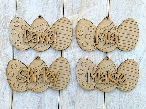 Easter Tree Decoration Eggs with Name