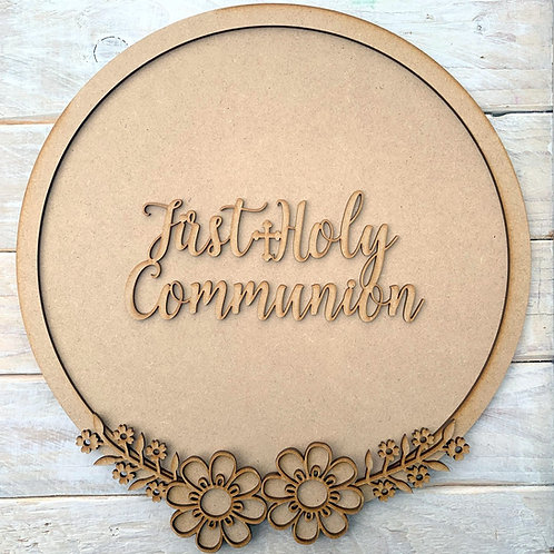 Layered Hoop Kit Backboard with First Holy Communion