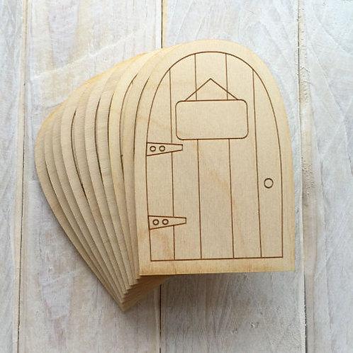 6 Pack Wooden Fairy Doors Code Flat C