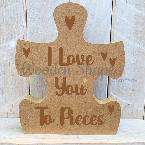 18mm Freestanding Jigsaw Love you to pieces