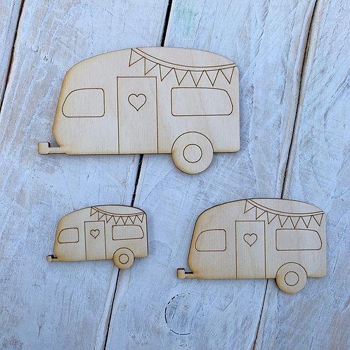 Plywood Cute Caravan 10 Pack