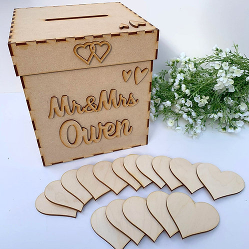Personalised Build Your Own Wedding Wish Box