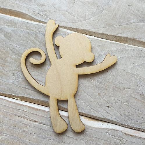 Plywood Monkey Shape 10 PACK