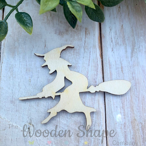 Plywood Witch Broom Shapes 10 Pack