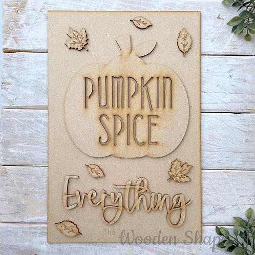 30cm MDF Sign Kit Pumpkin Spice Everything RP