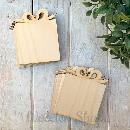10 Pack Birch Plywood Christmas Tags Gifts