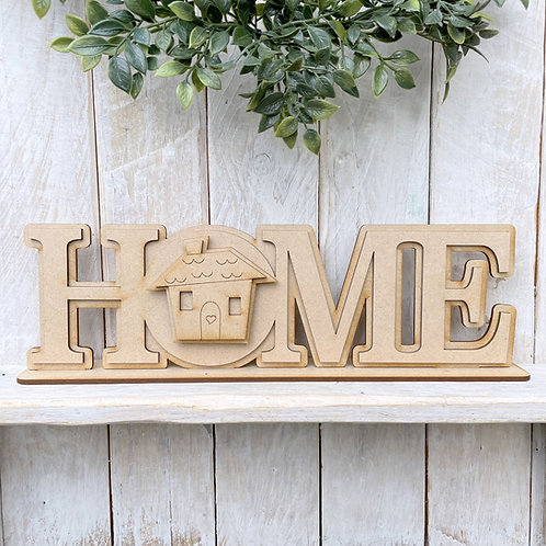 Interchangeable Home Sign on Stand